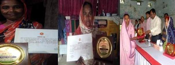 Moyna Rani, Hawa Akhter and Shamsunnahar received Joyeeta award